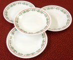 Corning Corelle Winter Holly 6.75 in Dessert Plate 4pc Set NEW