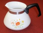 Corning Ware Wildflower Pansies 6 Stovetop Tea Pot ONLY No Lid