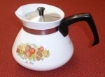 Corning Ware Spice O' Life Tea Pot 6 cup w/ Stainless Steel Lid