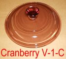 Corning Cranberry Vision V-1-C Casserole Replacement Cover Lid