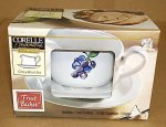 Corning Corelle Fruit Basket Gravy Boat and Under Plate NIB