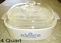 Corning Ware Blue Cornflower Casserole Dutch Oven Roaster w/Lid