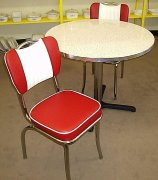 "50's Style Red Glacier Boomerang 3pc Diner Set 36"" Table NEW"