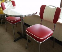 "50's Style Red Glacier Boomerang 3pc Diner Set 30"" Table NEW"
