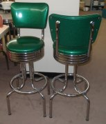 2 Vintage Style Tall Table Height Bar Stools NEW USA MADE w/WARR