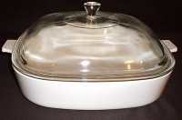 Corning Ware Cookmates Frost White Casserole Skillet w/ Lid SK10