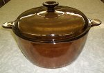 Corning Amber Vision 4.5 L Dutch Oven Stock Pot Casserole w/ Lid
