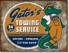 Gator's Towing Service Fun Tin Sign Mechanics Tow Truck NEW